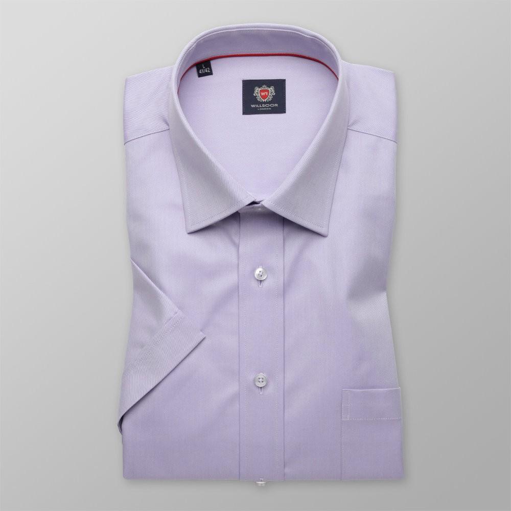 Wrzosowa gładka klasyczna koszula