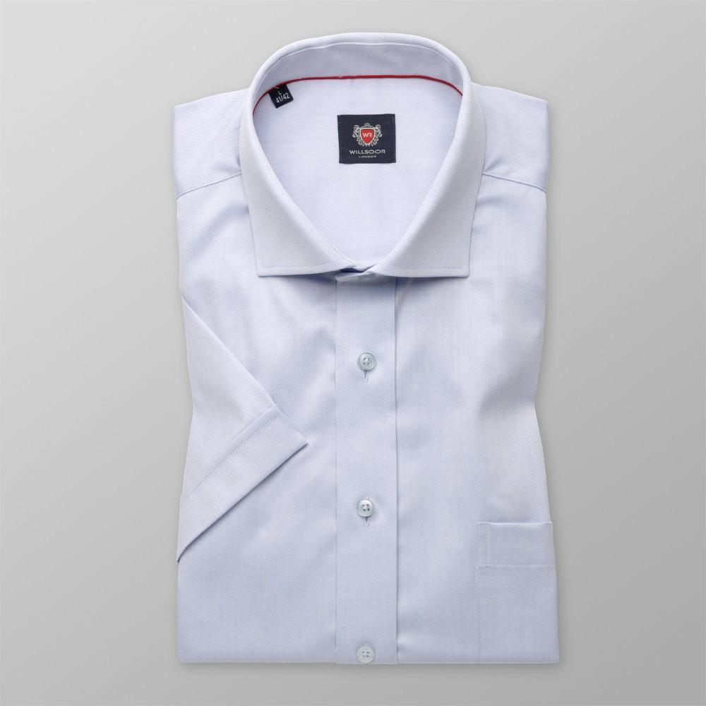 Jasnobłękitna gładka klasyczna koszula