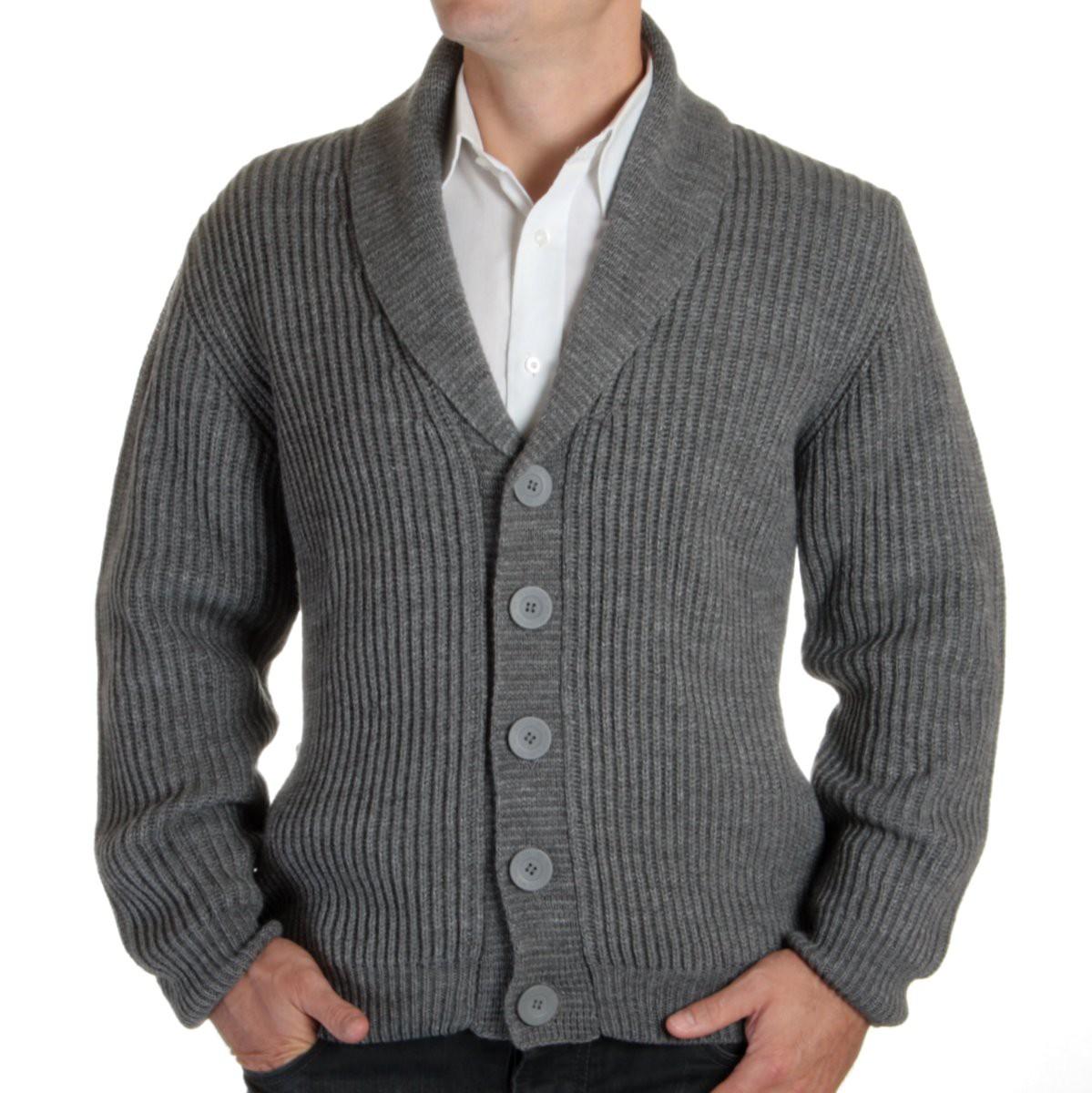 Sweter szalowy Willsoor - szary