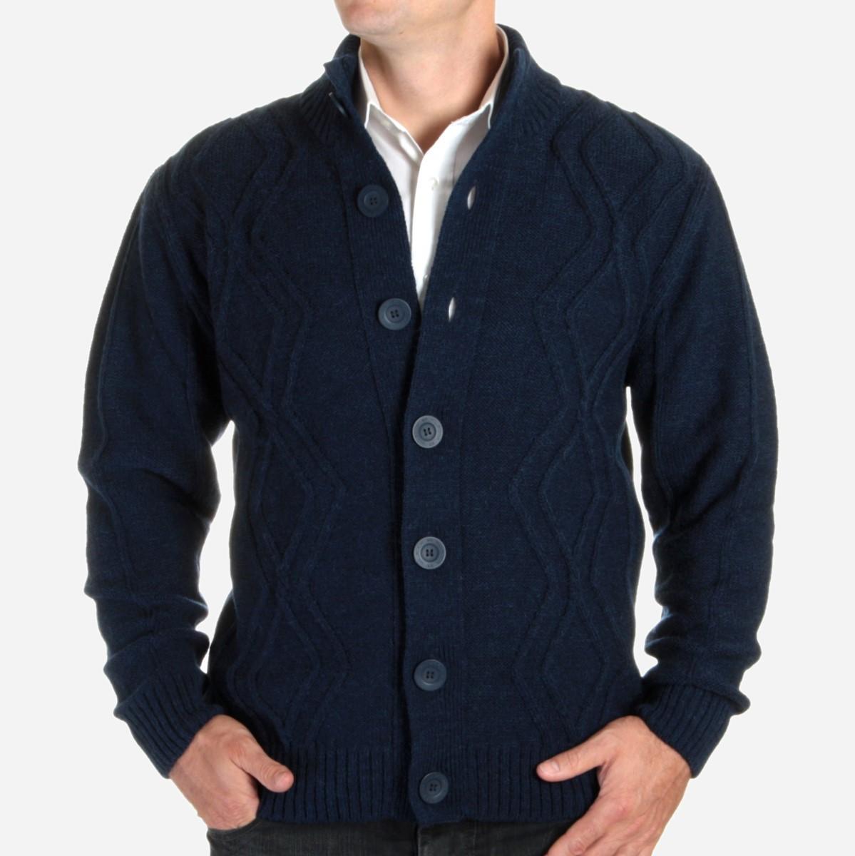 Sweter rozpinany Willsoor - granatowy