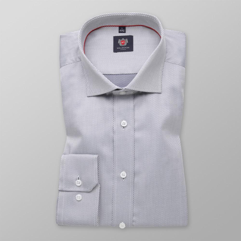 Taliowana koszula w drobny prążek Koszule męskie WYPRZEDAŻ  wEmAL