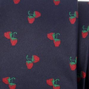 Granatowy krawat jedwabny