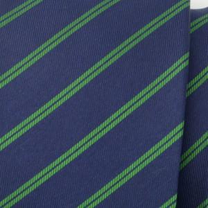 Granatowy jedwabny krawat klubowy w paski