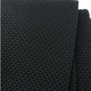 Czarny wąski krawat tkany