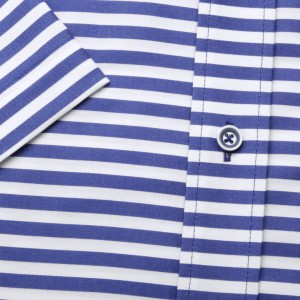 Klasyczna biała koszula w pasy