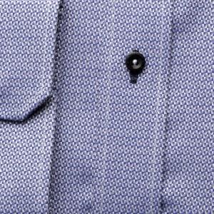 Niebieska klasyczna koszula w mikrowzór
