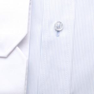 Biała klasyczna koszula maklerska w prążek