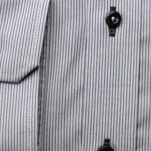 Szara klasyczna koszula w prążki