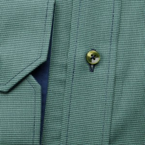 Zielona taliowana koszula z kontrastami