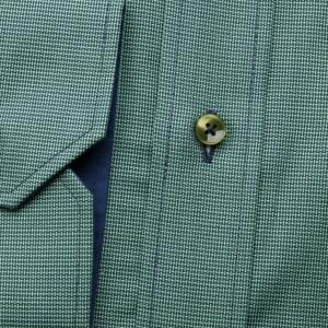 Klasyczna zielona koszula z kontrastami