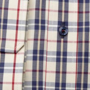 Klasyczna beżowa koszula w kratę