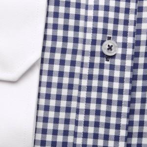 Taliowana koszula maklerska w kratkę
