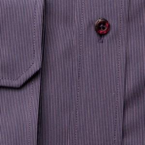 Fioletowa taliowana koszula z prążek