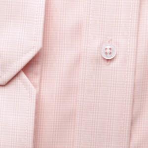 Klasyczna jasnoróżowa koszula w drobną kratkę