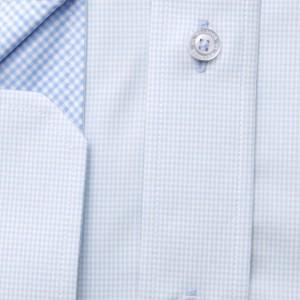Taliowana koszula w drobną kratkę