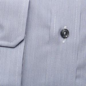 Jasnoszara taliowana koszula w prążek