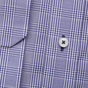 Wrzosowa taliowana koszula w kratkę