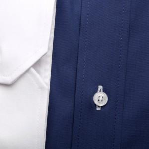 Granatowa taliowana koszula maklerska