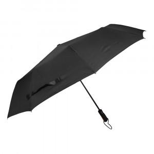 Czarny męski parasol przeciwdeszczowy