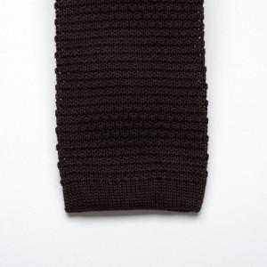 Krawat tkany Willsoor - brązowy