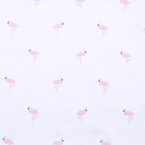 Biała chusta wielofunkcyjna we flamingi