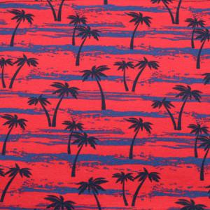 Czerwona chusta wielofunkcyjna w palmy