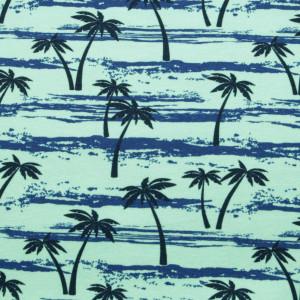 Miętowa chusta wielofunkcyjna w palmy