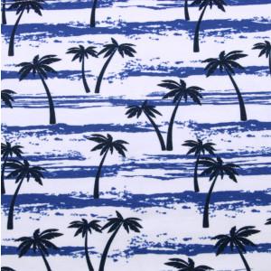 Biało-granatowa chusta wielofunkcyjna w palmy