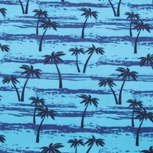 Niebieska chusta wielofunkcyjna w palmy