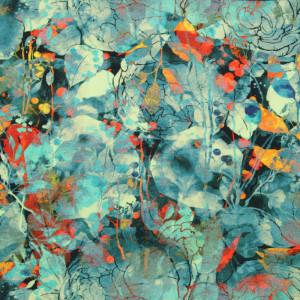 Chusta wielofunkcyjna w kolorowe plamy