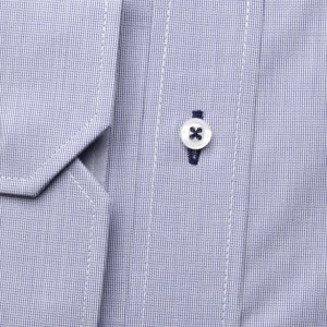 Popielata taliowana koszula z kontrastami