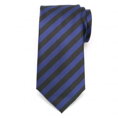 Klasyczny krawat w czarno-granatowe pasy
