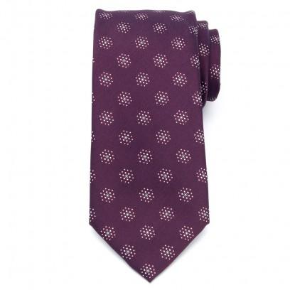 Klasyczny burgundowy krawat w kropki