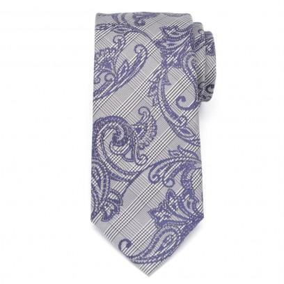 Klasyczny szary krawat w kratę Księcia Walii