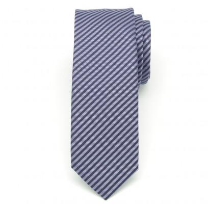 Wąski krawat w jodełkę