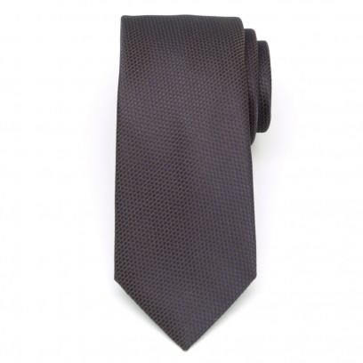 Klasyczny granatowy krawat w kratkę