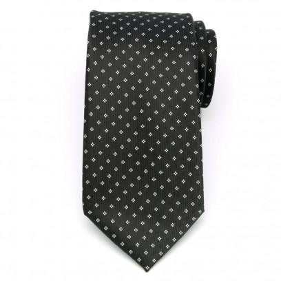 Klasyczny czarny krawat w kropki