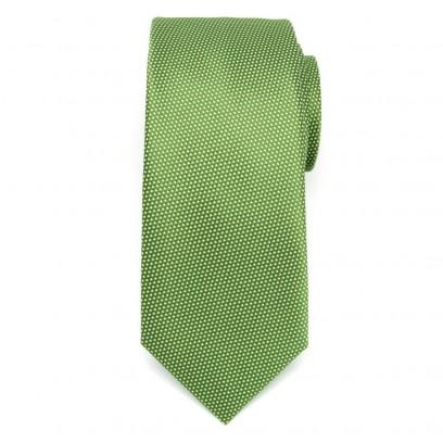 Klasyczny zielony krawat w drobny wzór