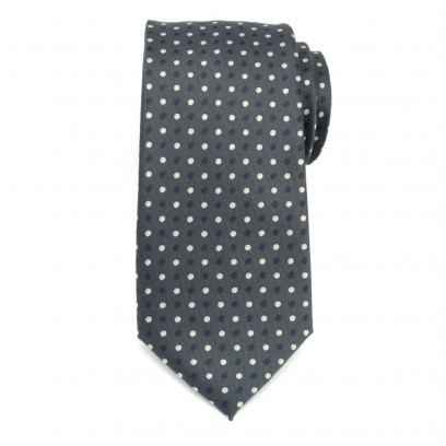Klasyczny szary krawat w kropki
