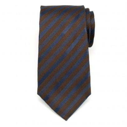 Jedwabny krawat w pasy