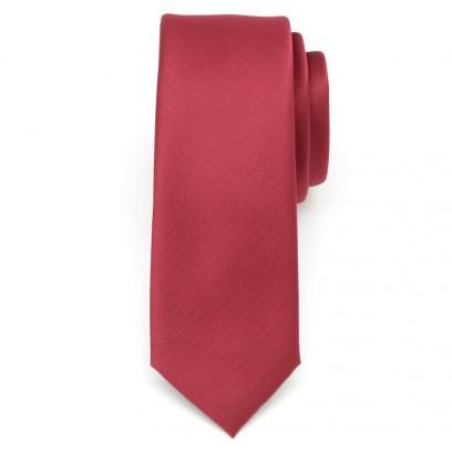 Krawat wąski (bordowy)