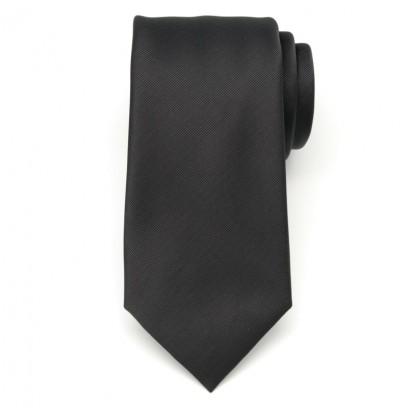 Klasyczny czarny krawat w prążek