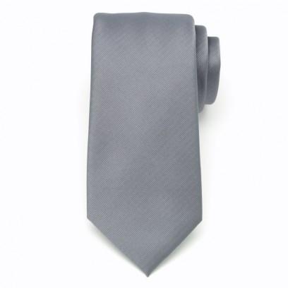 Klasyczny popielaty krawat w prążek