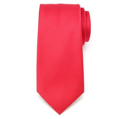 Klasyczny malinowy krawat w prążek
