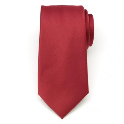 Klasyczny bordowy krawat w prążek