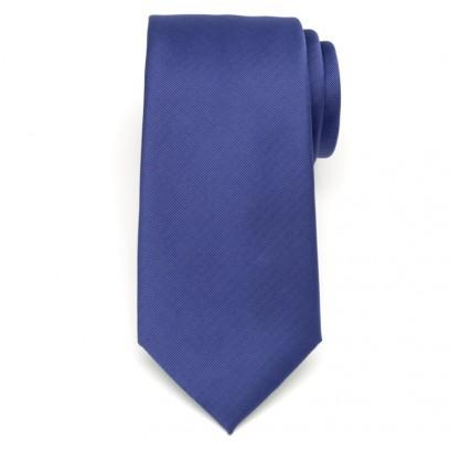 Klasyczny granatowy krawat w prążek