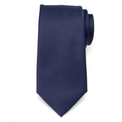 Krawat microfibra (ciemnogranatowy)