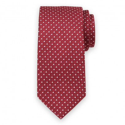 Klasyczny czerwony krawat w kropki
