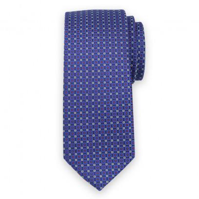 Granatowy krawat w mikrowzór