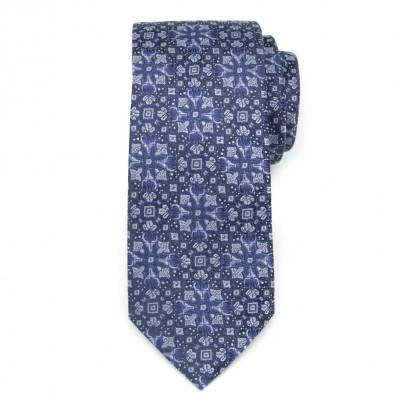 Jedwabny krawat w geometryczne wzory